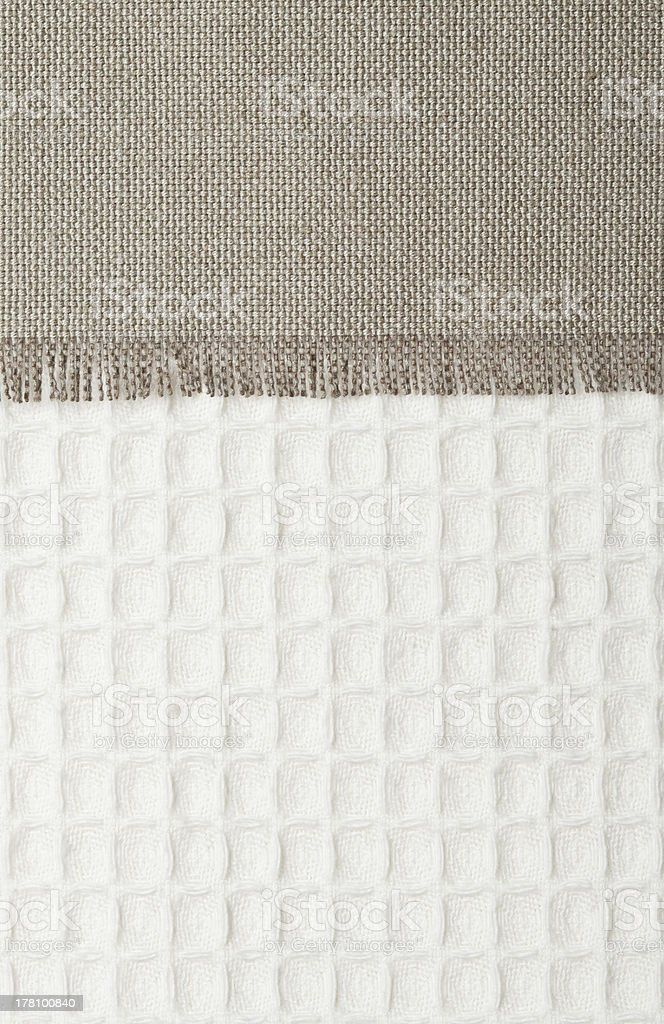 woven burlap and cotton texture royalty-free stock photo