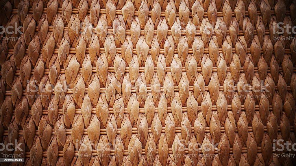 woven cane texture. stock photo