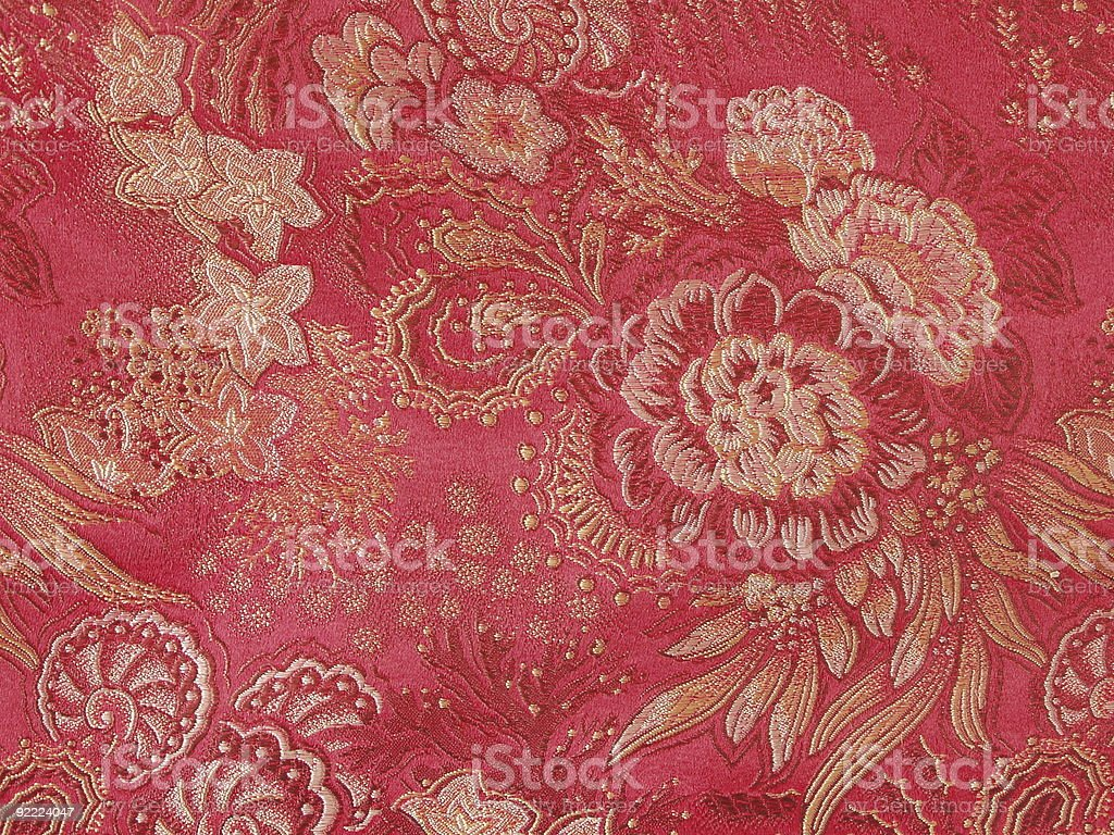 Woven chinese silk royalty-free stock photo