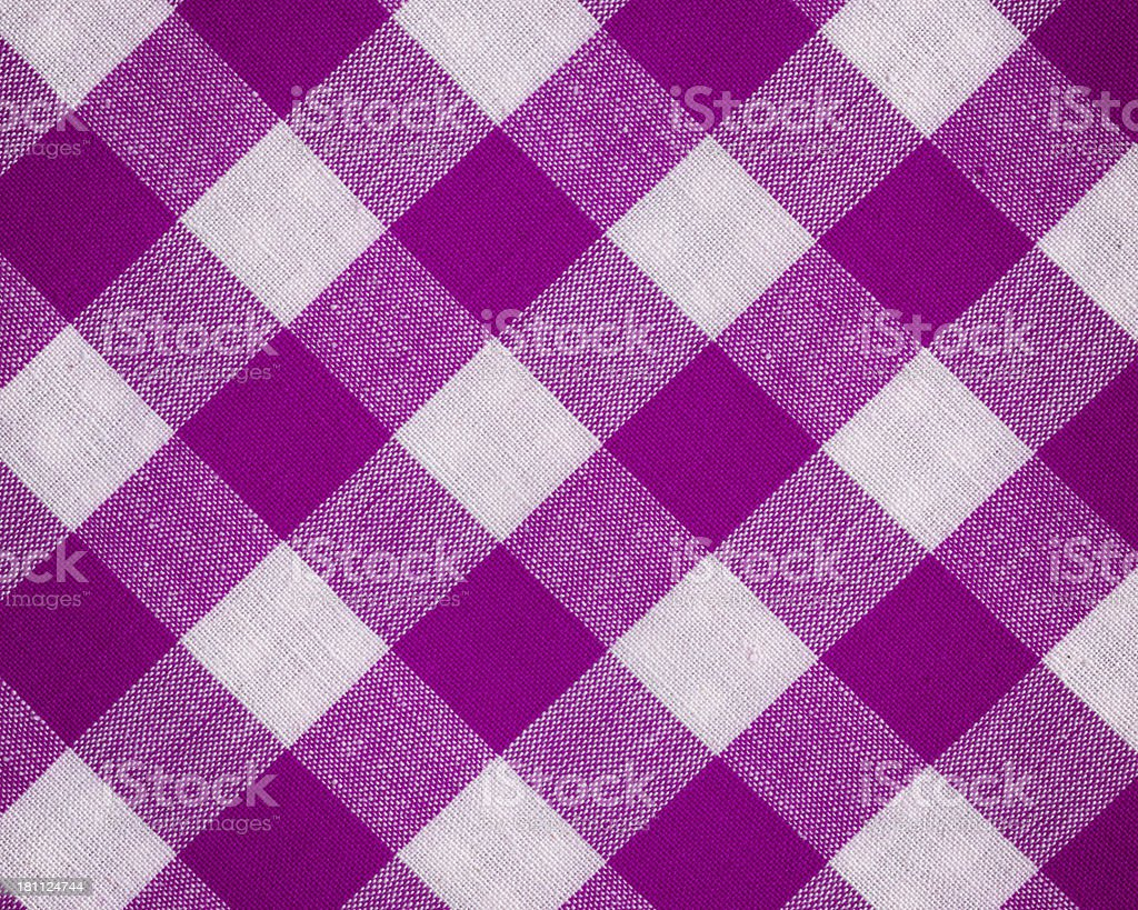 High resolution woven cotton with gingham pattern vector art illustration