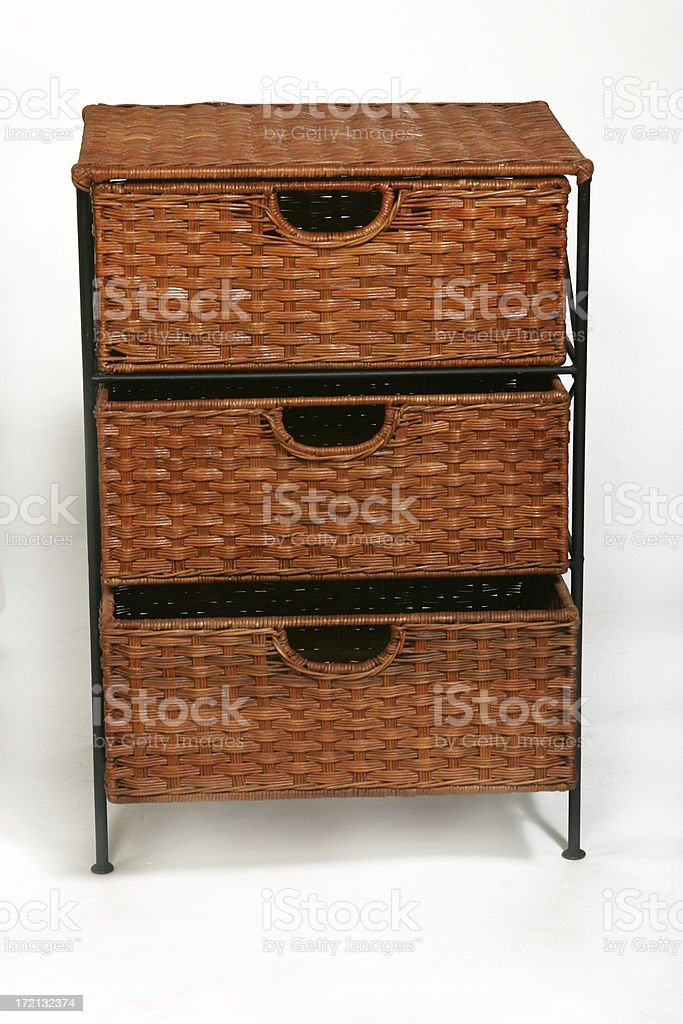 woven drawers stock photo