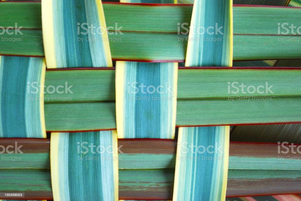 Woven Harakeke Background royalty-free stock photo
