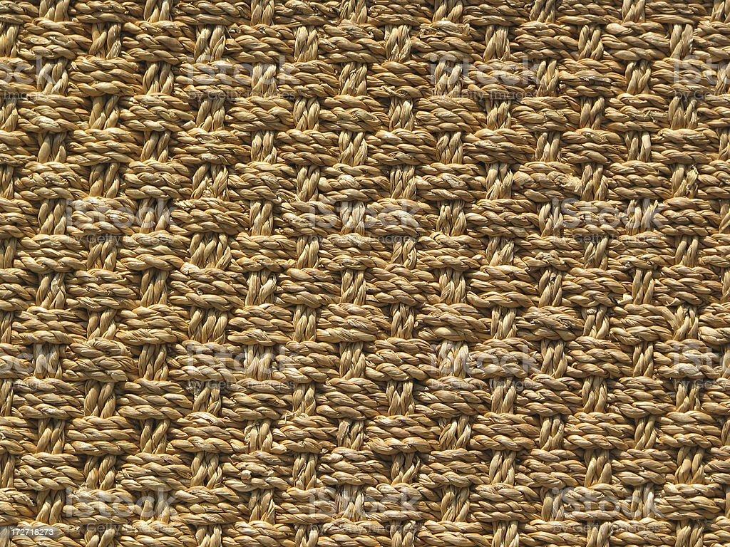 Woven Jute Textile Rug Background stock photo