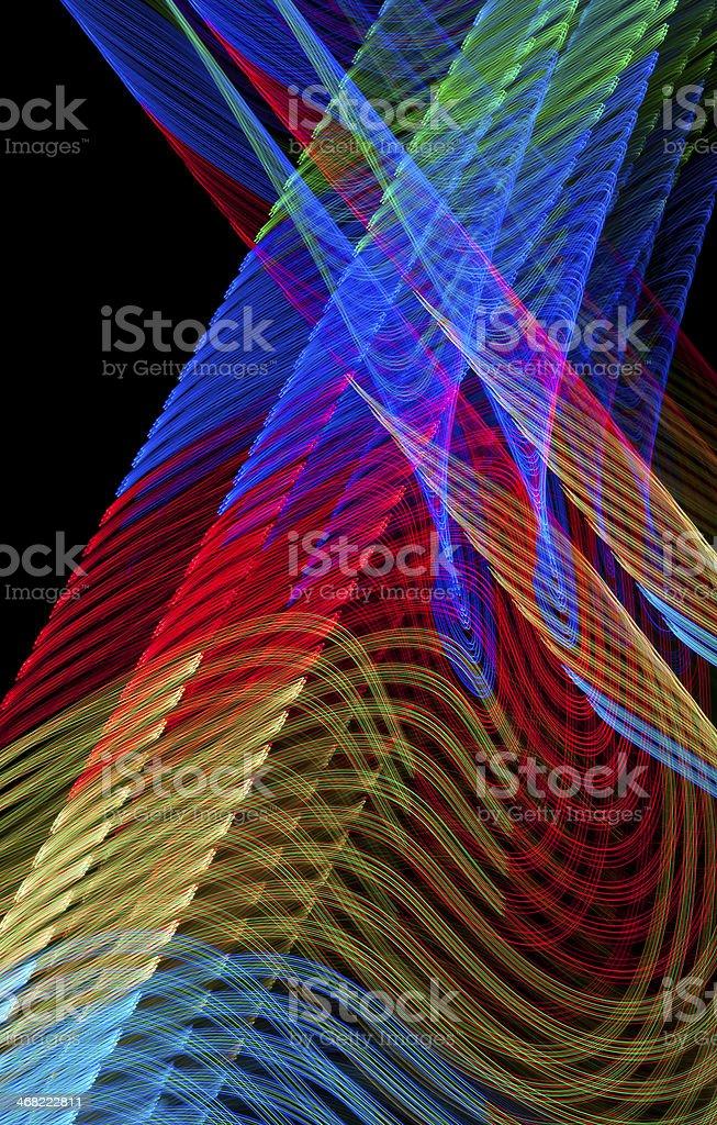 Woven Light Patterns royalty-free stock photo