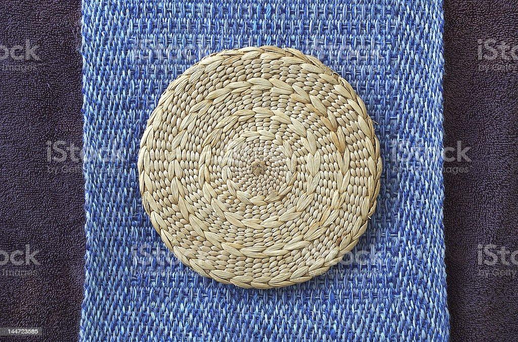 Woven mandala stock photo