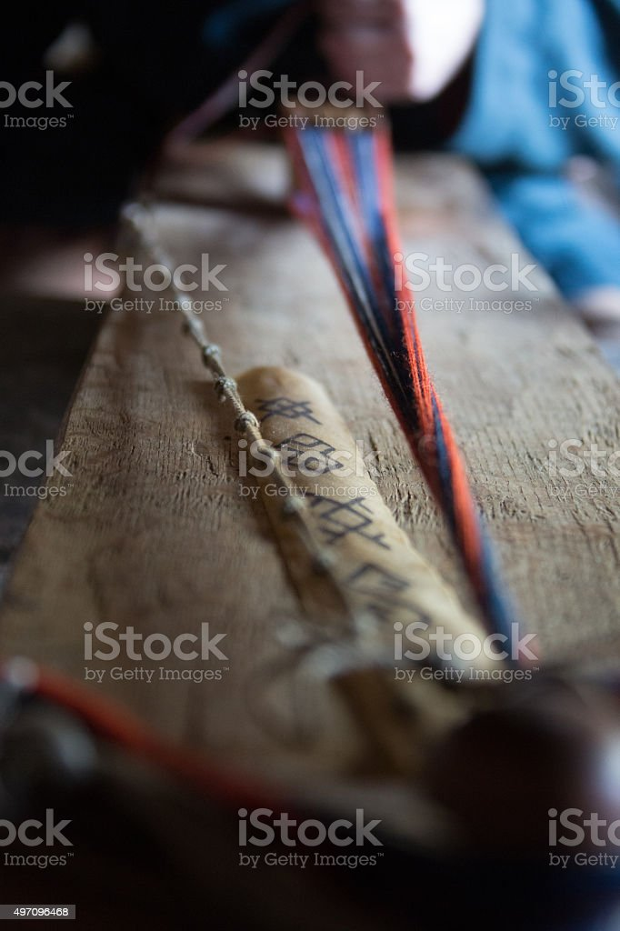 Woven Material in Viking Times stock photo