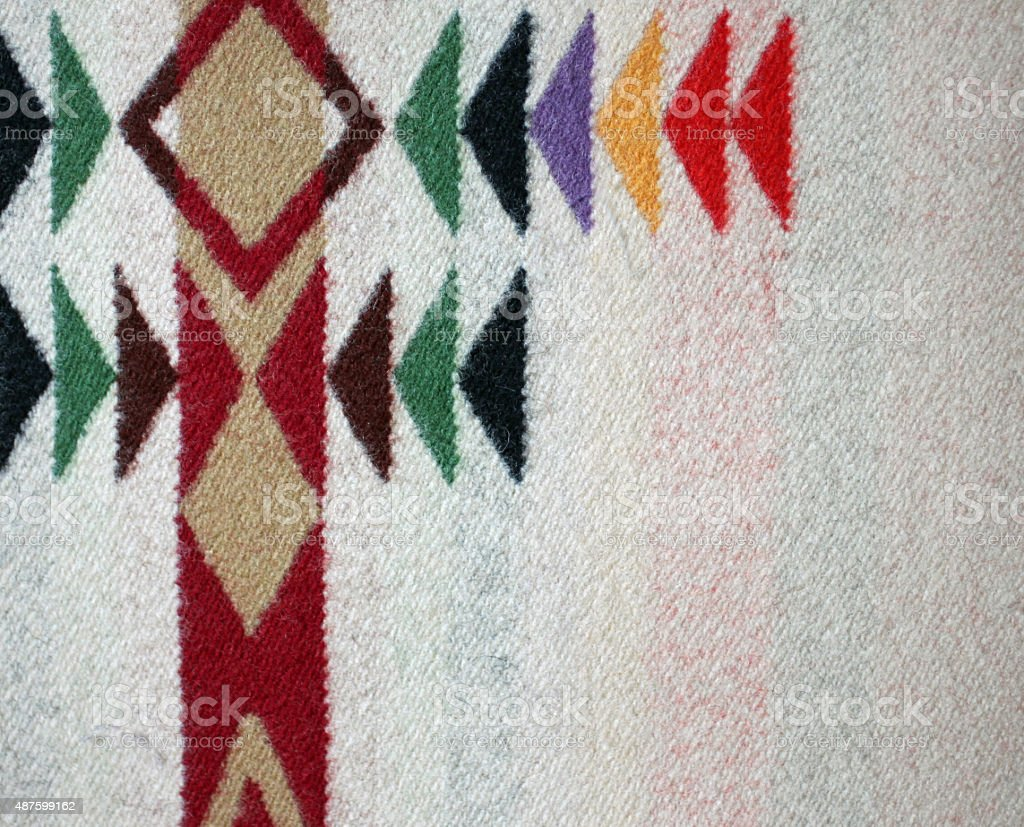 Woven Multicolor Woolen Blanket with white background stock photo