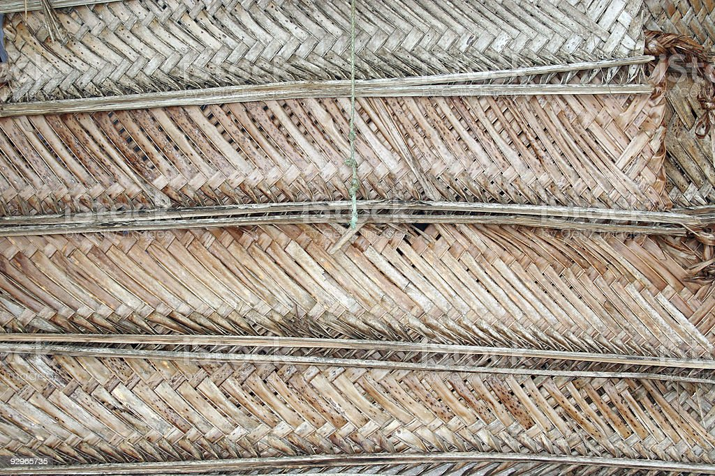 Woven palm leaf shutter stock photo