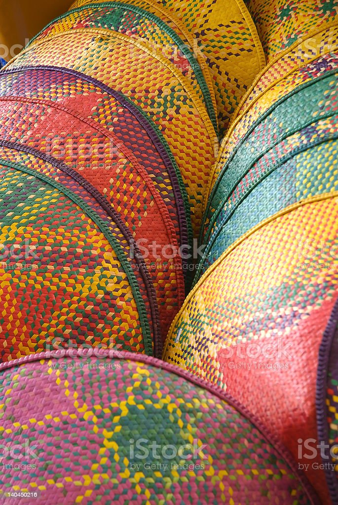 Woven palm leaves handicraft royalty-free stock photo