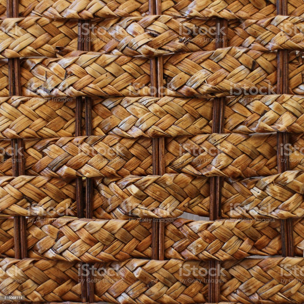 Woven Picnic Basket Texture Background stock photo