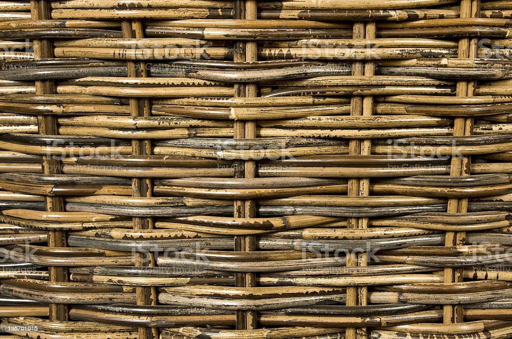 Woven rattan background stock photo