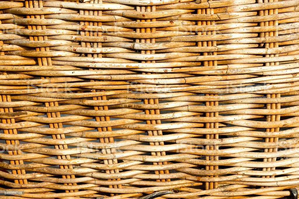 Woven rattan texture background stock photo