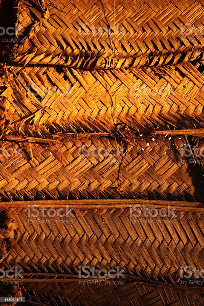 Woven shutters in Samoa stock photo
