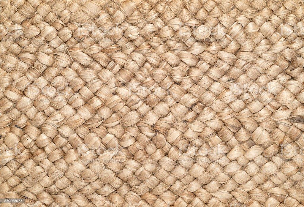 Woven Sisal & Wool Rug Background stock photo