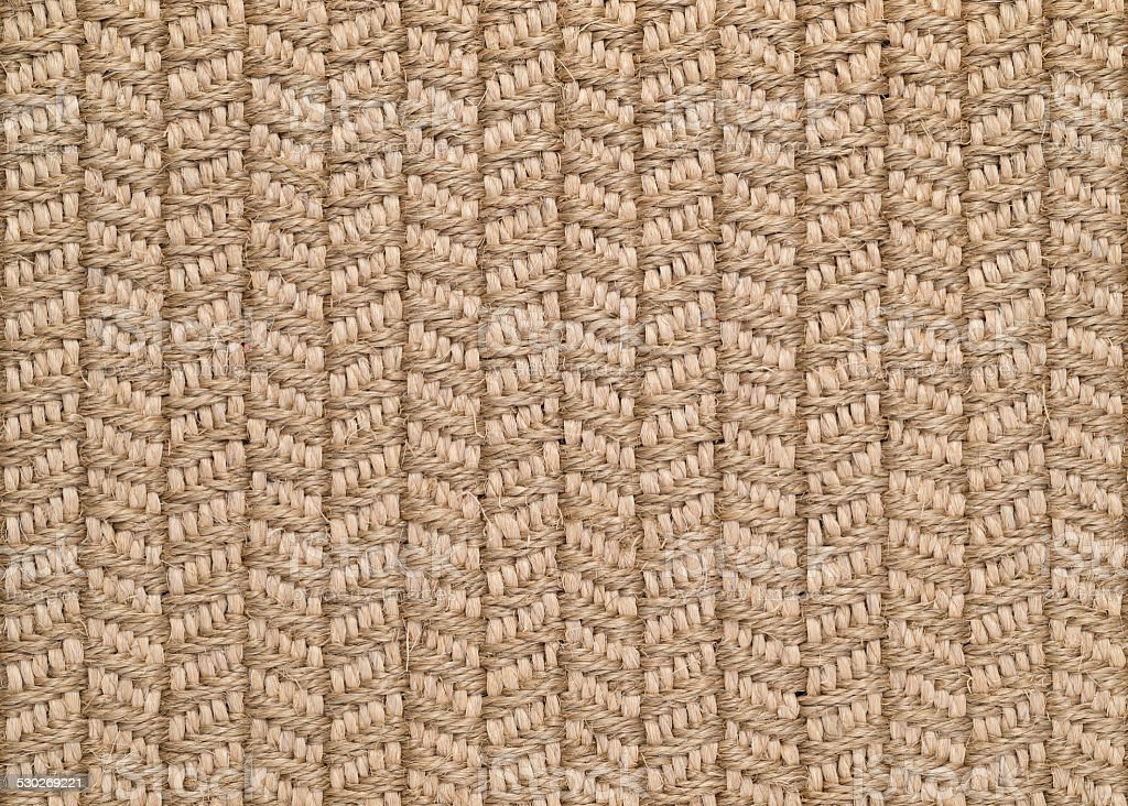 Woven Sisal & Wool Rug Background stock photo