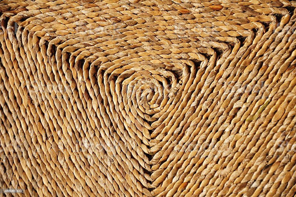 Woven spiral stock photo