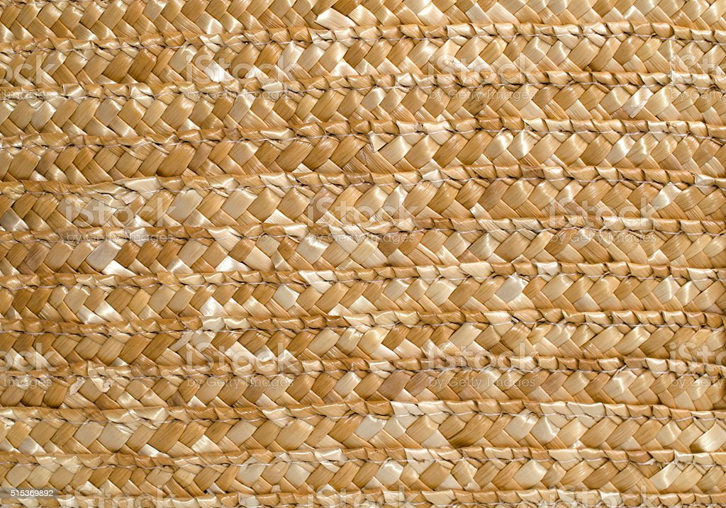 Woven straw background stock photo