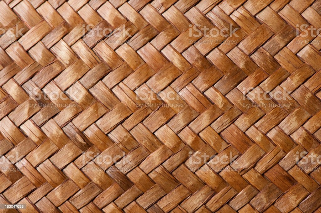 Woven Straw or Wicker Background royalty-free stock photo