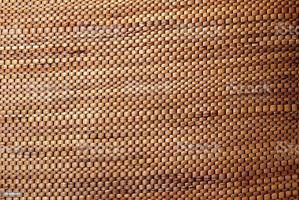 Woven Straw Pillow stock photo