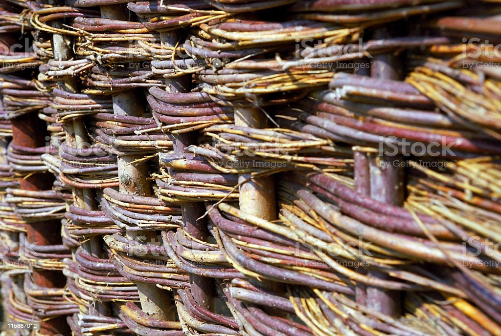 Woven Willow Fence royalty-free stock photo