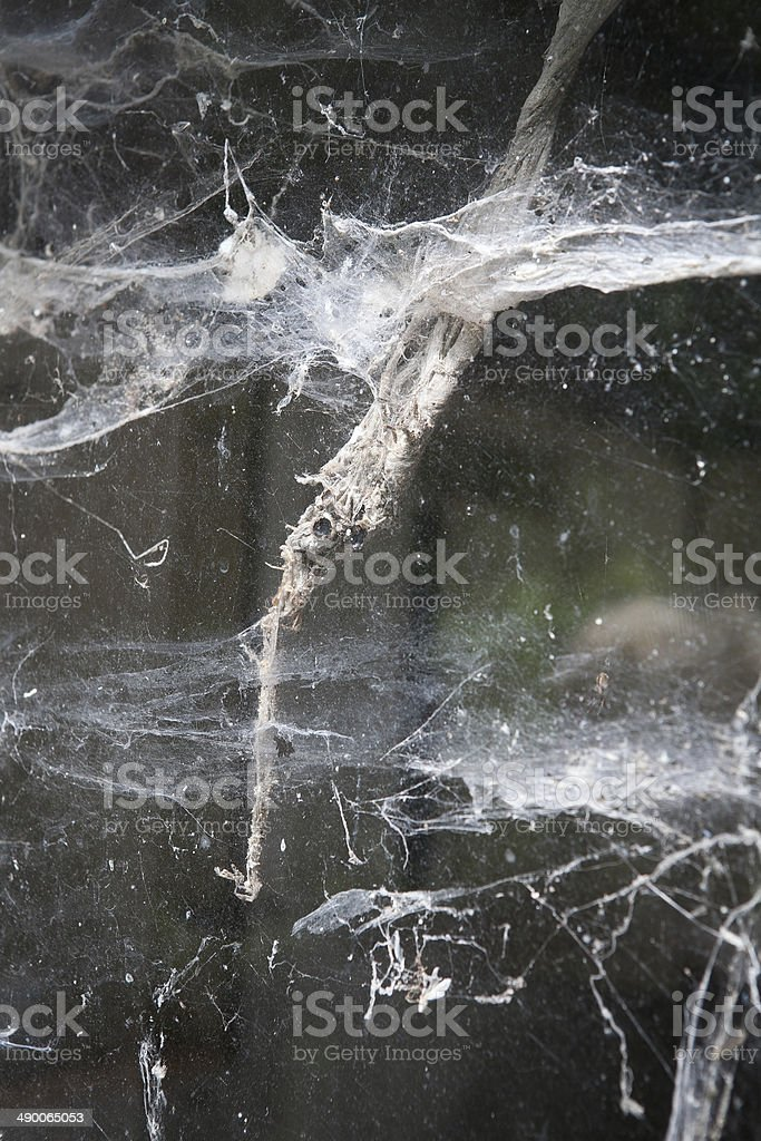 zugewebtes Fenster stock photo