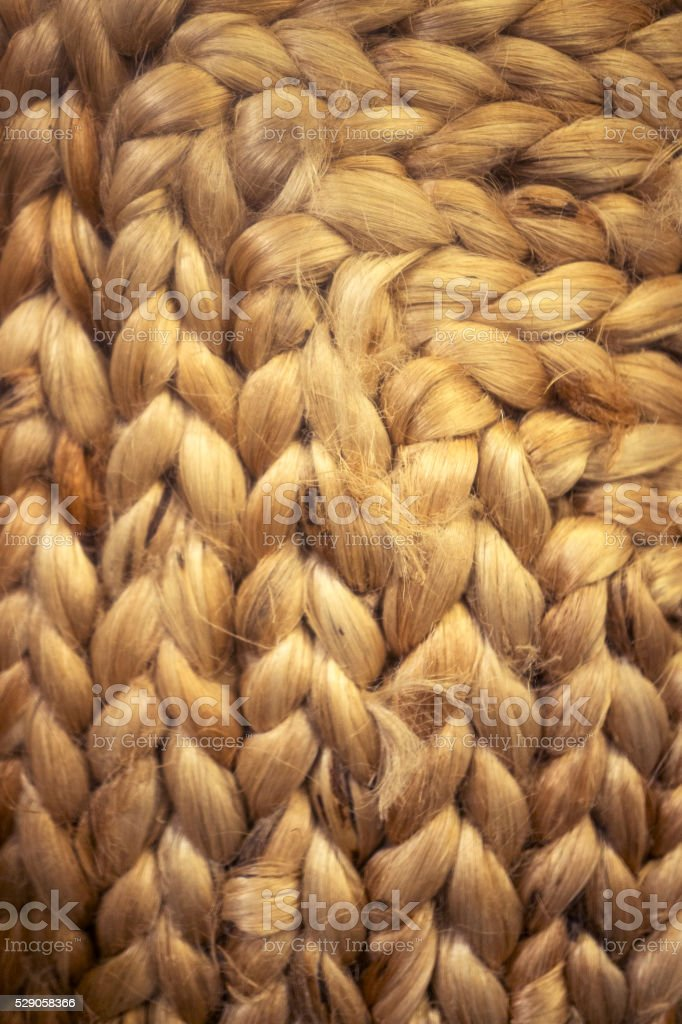 Woven Wool Rug Detail stock photo