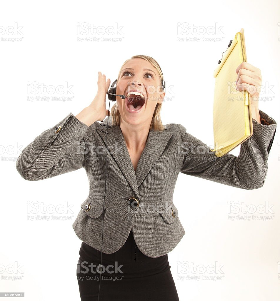 Asombre a servicio al cliente foto de stock libre de derechos