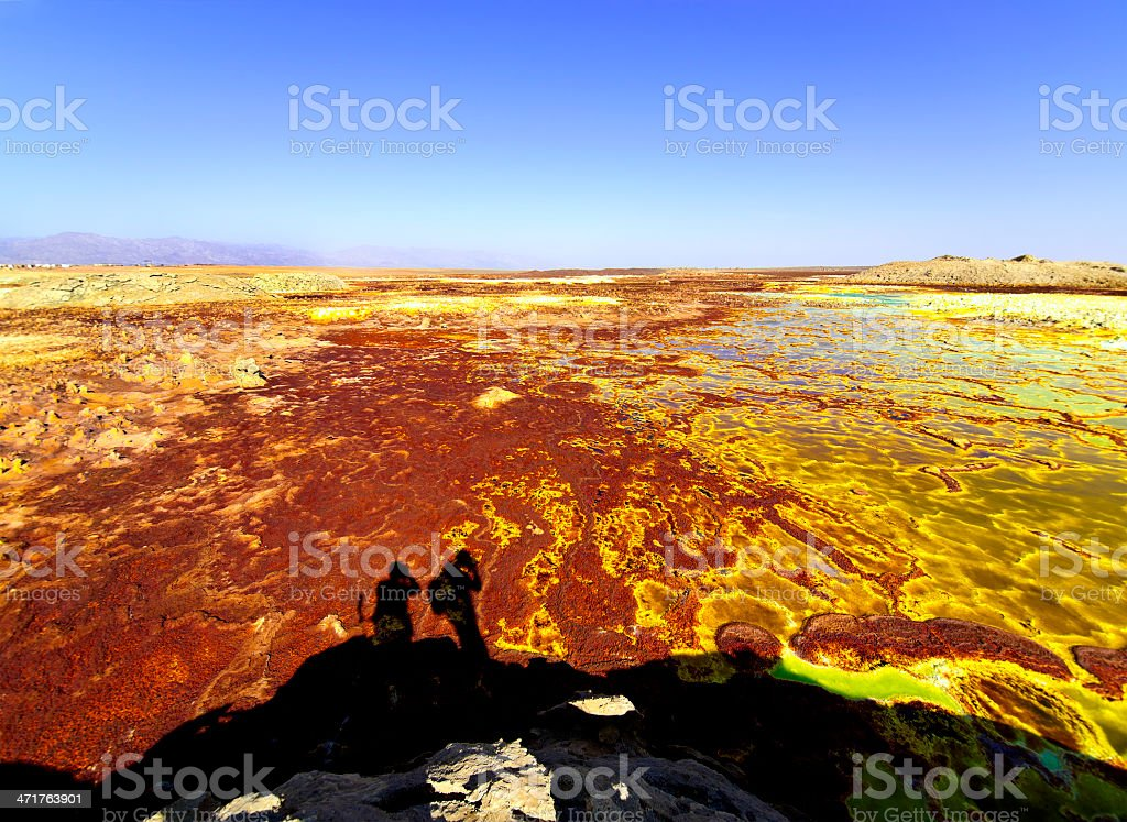 Wow Dallol stock photo