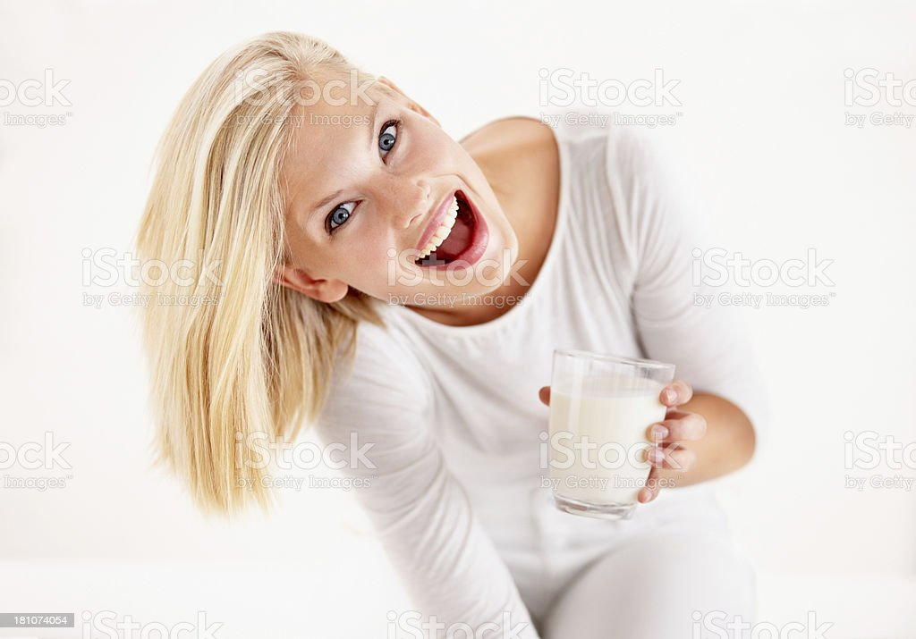 Wow, it's delicious! royalty-free stock photo