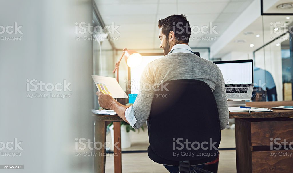 Wow, my business is doing better than ever stock photo
