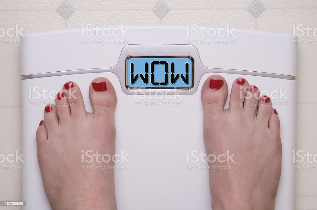 Wow Scale stock photo