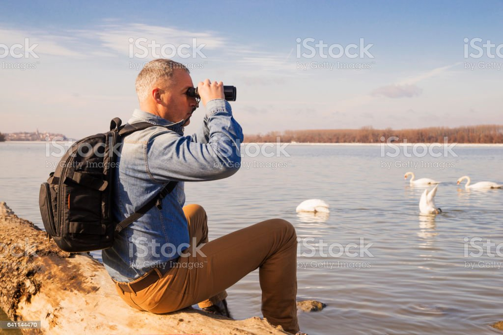 Wow! The view's amazing stock photo