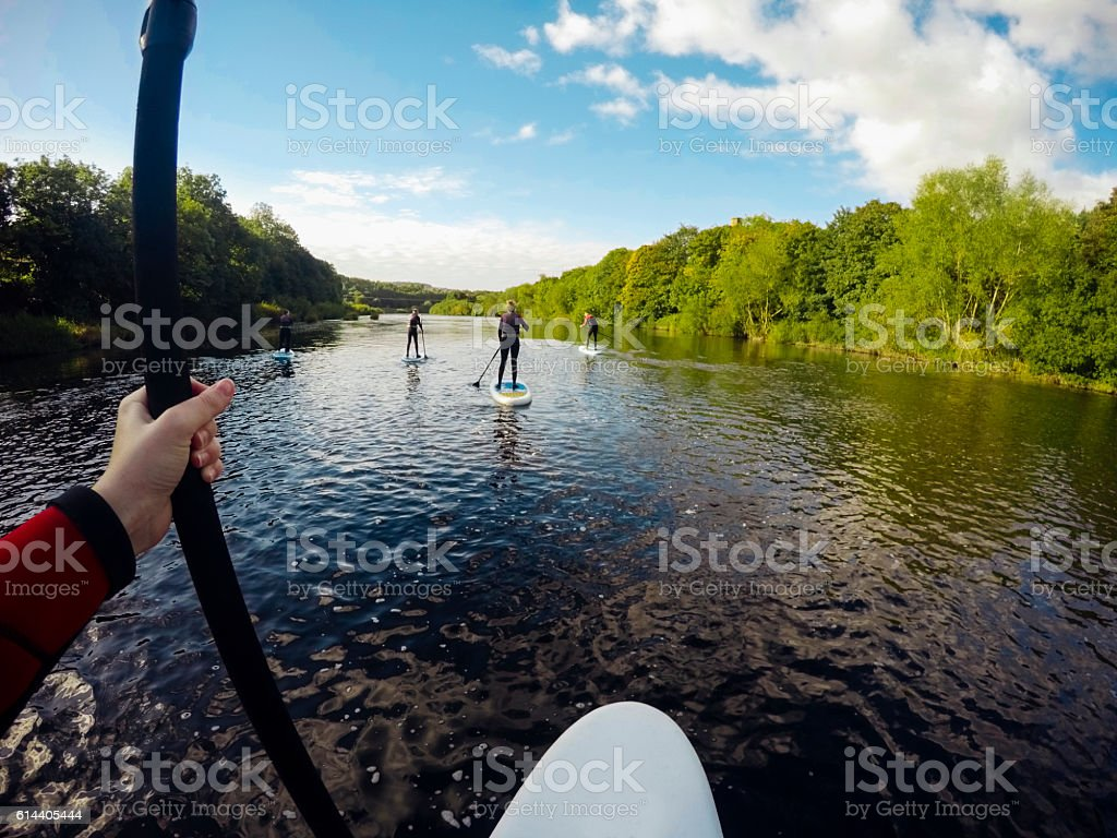 Wow, what a view! stock photo