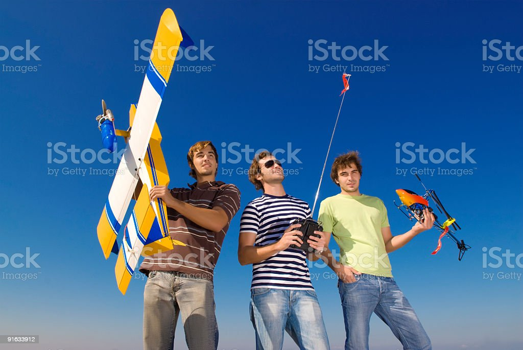 Wow,boys - RC models ! stock photo