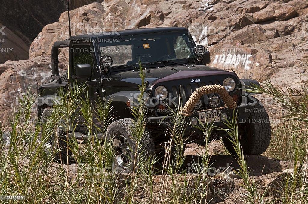 Wrangler Jeep Excursion stock photo