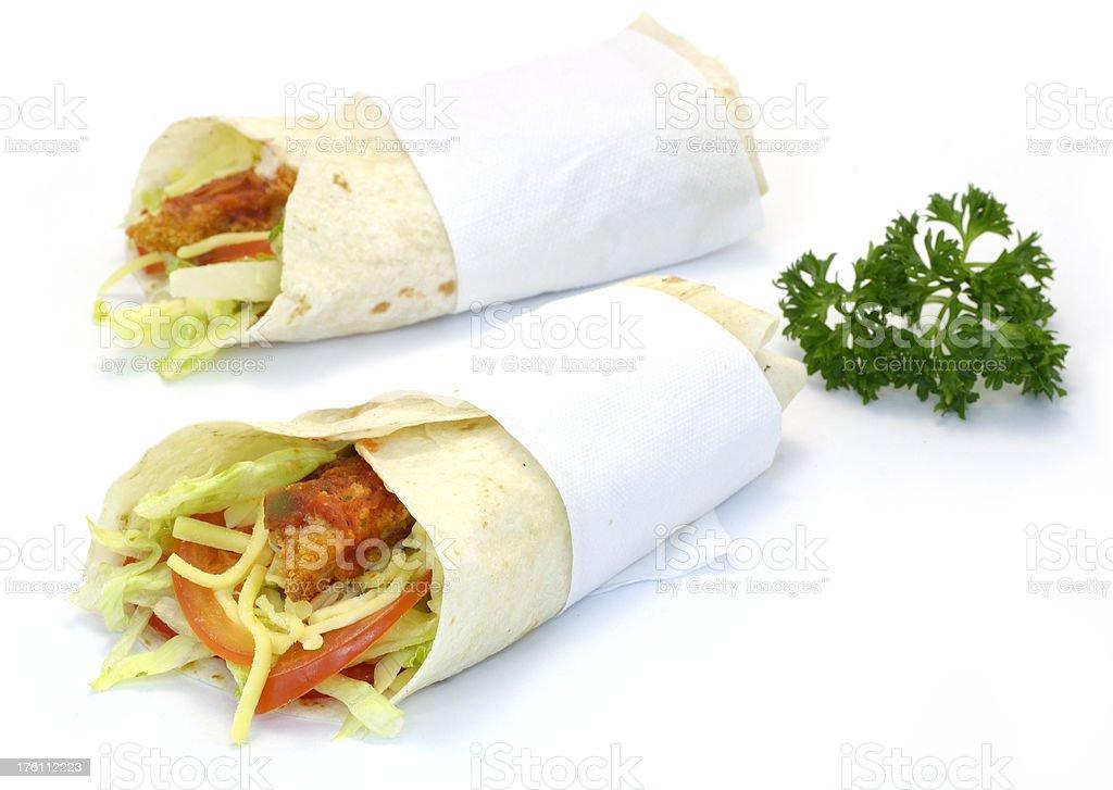 Wrap Sandwich royalty-free stock photo