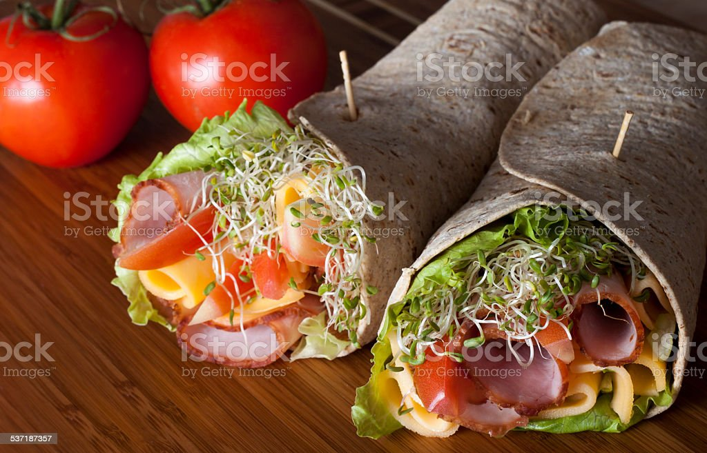wrap sandwich stock photo