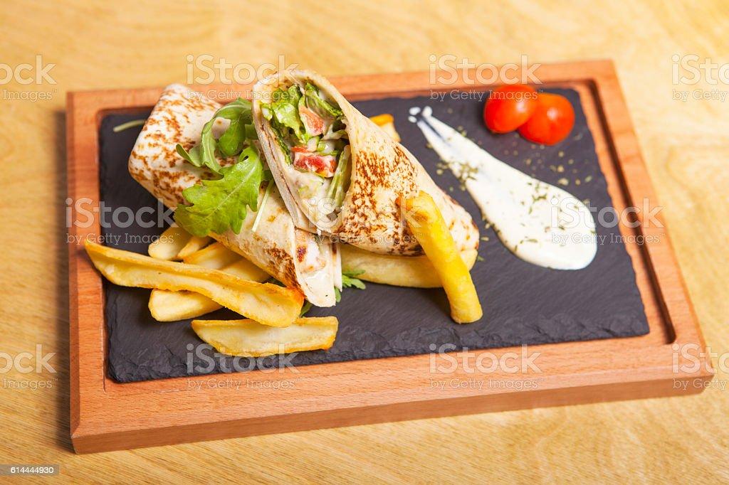 wrap sandwich stock photo