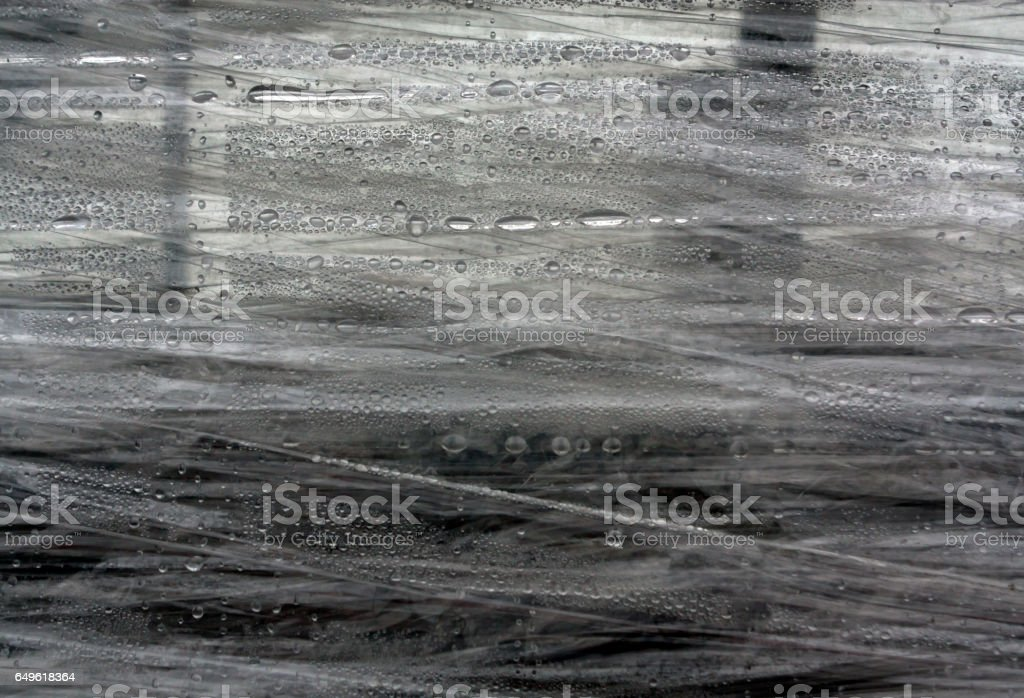 PVC wrap surface with water drops. stock photo