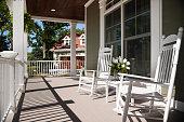 Wrap-around porch in summer.