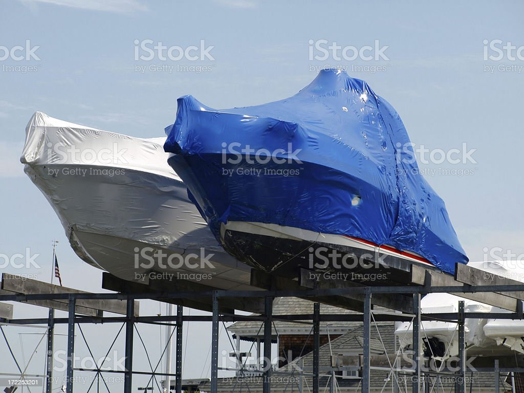 wrapped boats royalty-free stock photo