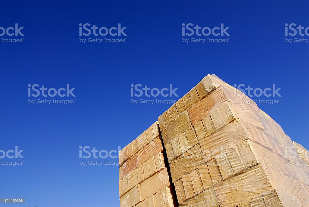 Wrapped Bricks stock photo