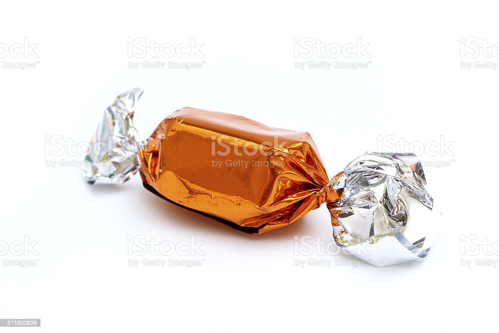 Wrapped Caramel stock photo