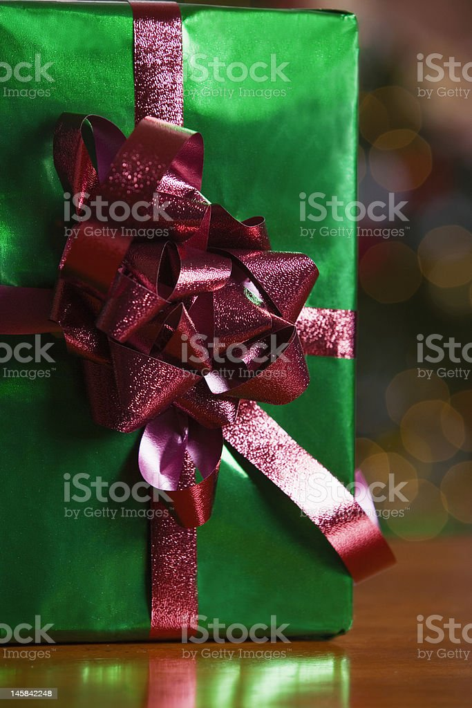 wrapped Christmas gift royalty-free stock photo