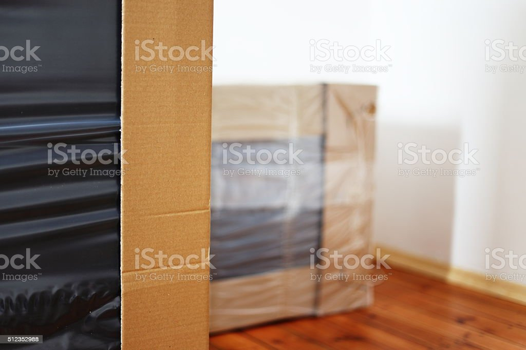 wrapped furniture royalty-free stock photo