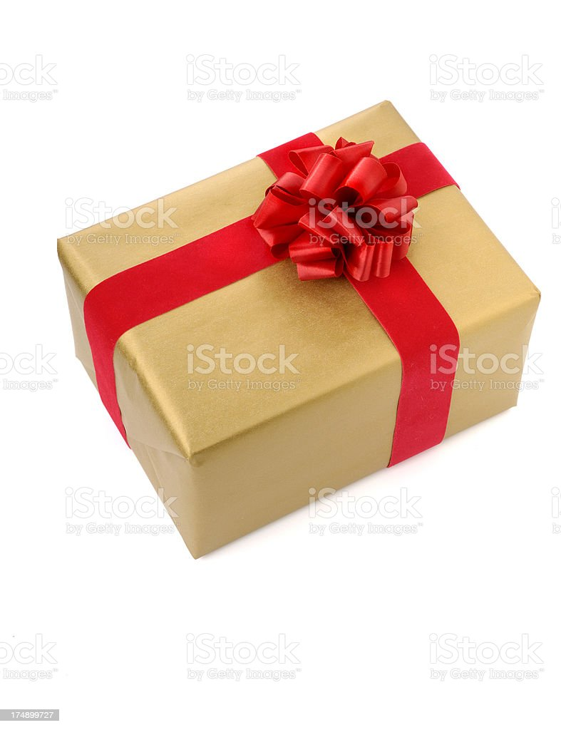 wrapped gift royalty-free stock photo