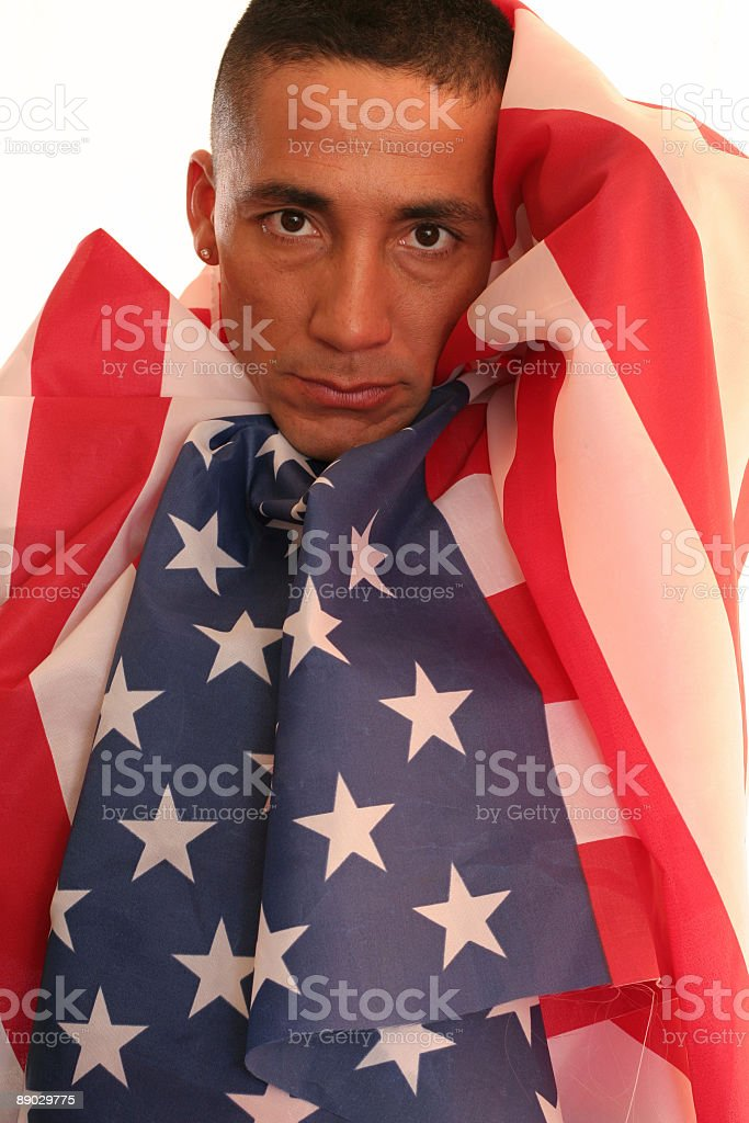 Wrapped in the Flag royalty-free stock photo