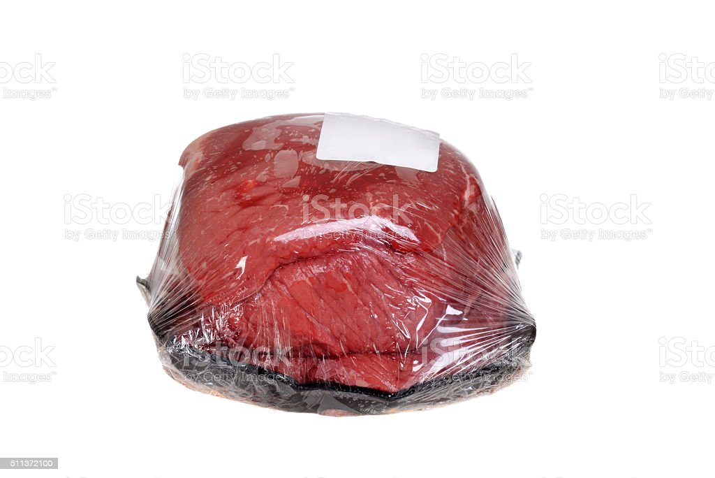 wrapped outside round roast beef stock photo