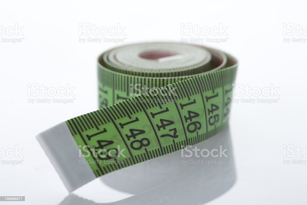 Wrapped Tape Measure stock photo