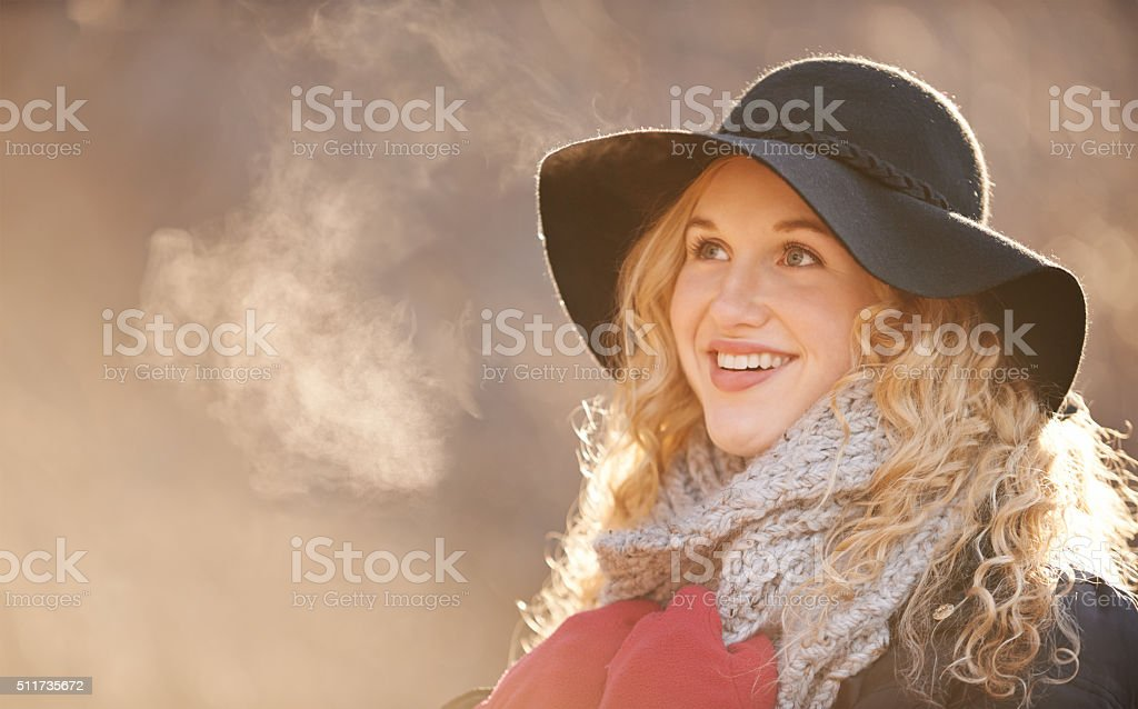 Wrapped up for winter stock photo